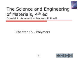 The Science and Engineering of Materials, 4th ed Donald R