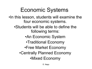 Economic Systems - White Plains Public Schools