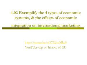 4.02 Exemplify the 4 types of economic systems, & the effects of