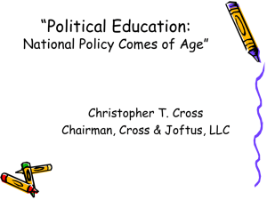 Education Policy - Christopher Cross