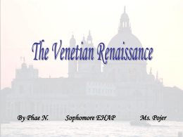 The Florentine vs. the Venetian Renaissance in Art