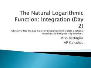 Use the Log Rule for Integration to integrate a rational function and