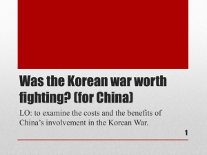 13. What was the impact of the Korean War?
