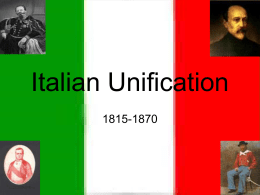 Italian unification summary