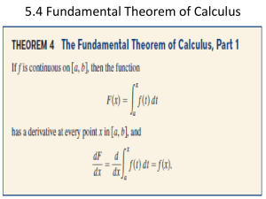 5.4 Fundamental Theorem of Calculus