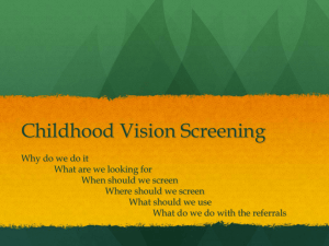 Childhood Vision Screening - E