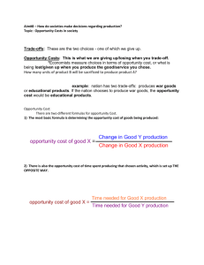 Opportunity Cost Review Sheet