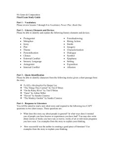 9A Genre & Composition Final Exam Study Guide Part 1