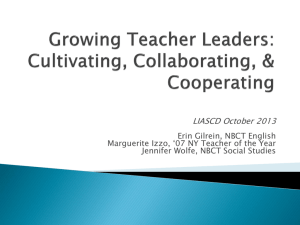 Growing Teacher Leaders LIASCD October 2013