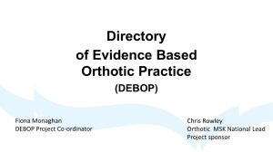 Directory of Evidence Based Orthotic Practice