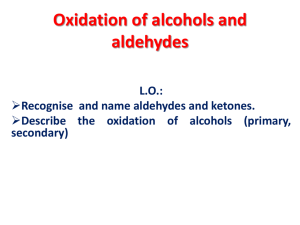 Oxidation of alcohols and aldehydes - DrBravoChemistry