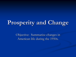 Prosperity and Change ppt