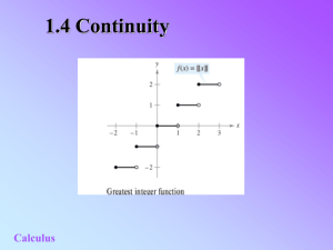 Topic 5 - Continuity