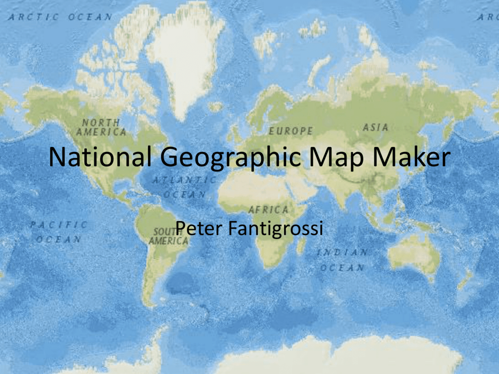 National Geographic Map Maker - Technology as Social Practice