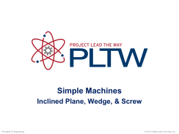 inclined plane simple machine animated simple machines inclined plane wedge and screw lab