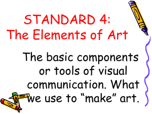 Standard 4 Elements of Art