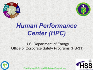 Human Performance Center (HPC)