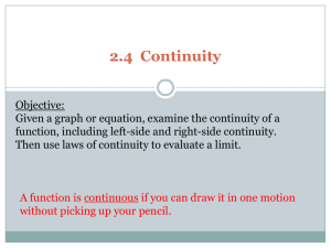Laws of Continuity
