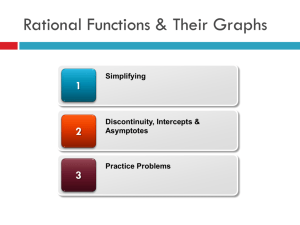 8-3a Graphing Rational Functions