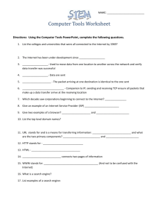 NAME: Computer Tools Worksheet Directions: Using the Computer