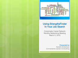 Using StrengthsFinder for Your Job Search