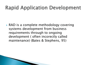 Intro to Rapid Application Development