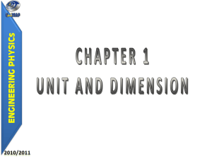 Chapt 1 - Unit & Dimension