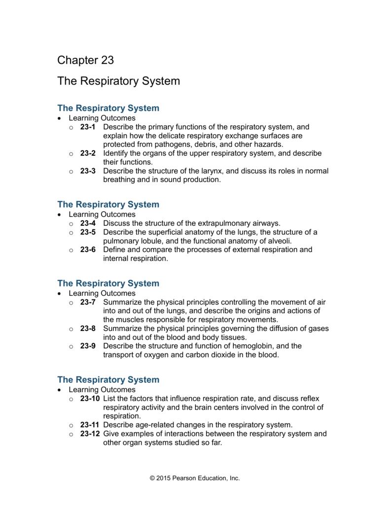 23-10 Control of Respiration