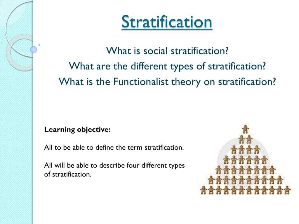 characteristics of social stratification