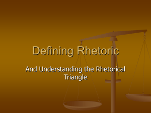 Link to Notes on Defining Rhetoric