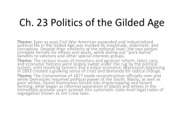 23 Politics of the Gilded Age