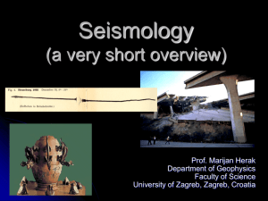 Seismology (a very short indroduction)