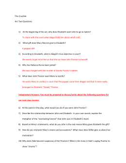 Close Reading Questions The Crucible Act   Teachwise