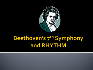 Beethoven's 7th Symphony and RHYTHM