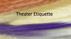 Theater Etiquette - Ms Harrison's English Classes