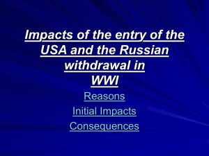 Impacts of the entry of the USA and - History
