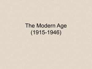The Modern Age (1915