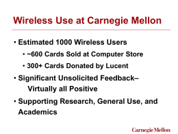 Wireless Use at Carnegie Mellon