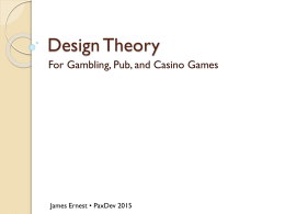 Design Theory - Cheapass Games