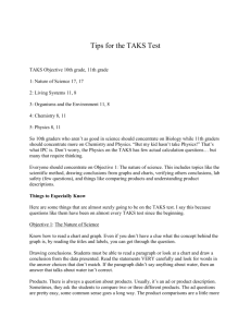 Tips for the TAKS Test TAKS Objective 10th grade, 11th grade 1