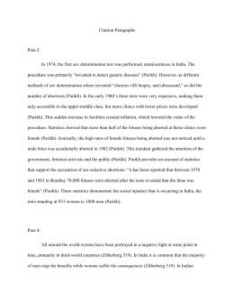 Citation page and Paragraphs for research ethics