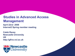 Advanced Access Management presenting a case study of