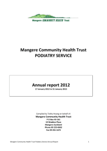 to view the Podiatry Annual Report