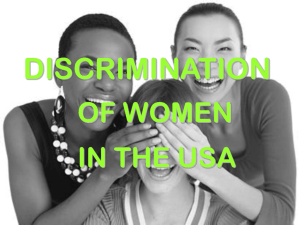 Discrimination against women in the USA