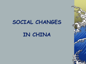 Social Changes in China