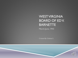 West Virginia Board of Ed v. Barnette