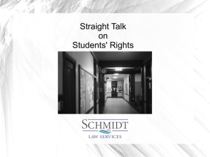 Students Rights Presentation