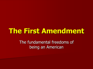 The First Amendment - Methacton School District