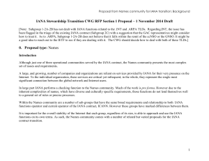 IANA CWG RFP Section 1 Proposal 1 Nov 14