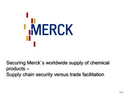 merck trade compliance and export control policy